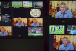 Screens from a BBC production office show the live broadcast of MOTD presenter Gary Lineker.Match of the Day (often abbreviated as MOTD or MotD) is the BBC\'s main football television programme. Typically, it is shown on BBC One on Saturday evenings during the English football season, showing highlights of the day\'s matches in English football\'s top division, the Premier League. It is one of the BBC\'s longest-running shows, having been on air since 22 August 1964, though it has not always been aired regularly. The programme is broadcast from MediaCityUK in Salford Quays on the banks of the Manchester Ship Canal in Greater Manchester.Since 1999 MOTD has been presented by the former England captain Gary Lineker. Lineker is usually joined by two pundits to analyse and review the day\'s action. The former Newcastle United captain Alan Shearer is the lead pundit