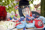 Cakes for high tea at a picnic on the Mall for a group of New Zealand royal supporters.