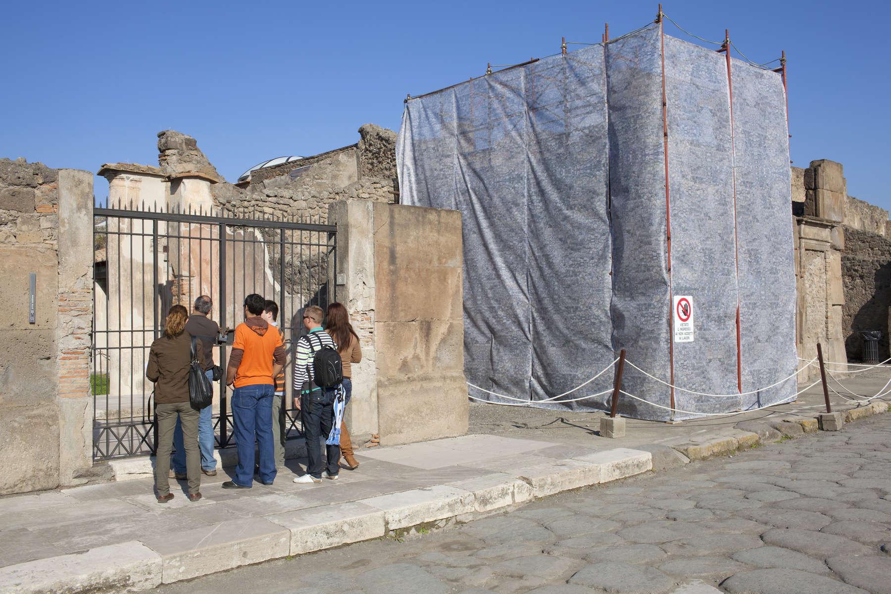 Visitors to the city of Pompeii, a partially buried Roman town near Naples in the Italian region of Campania. Pompeii was buried under ash and pumice after Mount Vesuvius erupted in AD79. Today, the UNESCO World Heritage Site attracts approximately 2,500,000 annually.+44(0)7711058090peter@peterdench.comPhotography ©Peter DenchCommissioned by:Dagmar Seeland, London OfficeHarald Menk, Hamburg Office