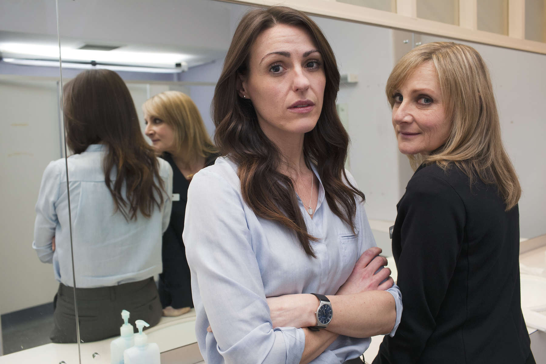 Lesley Sharp and Suranne Jones