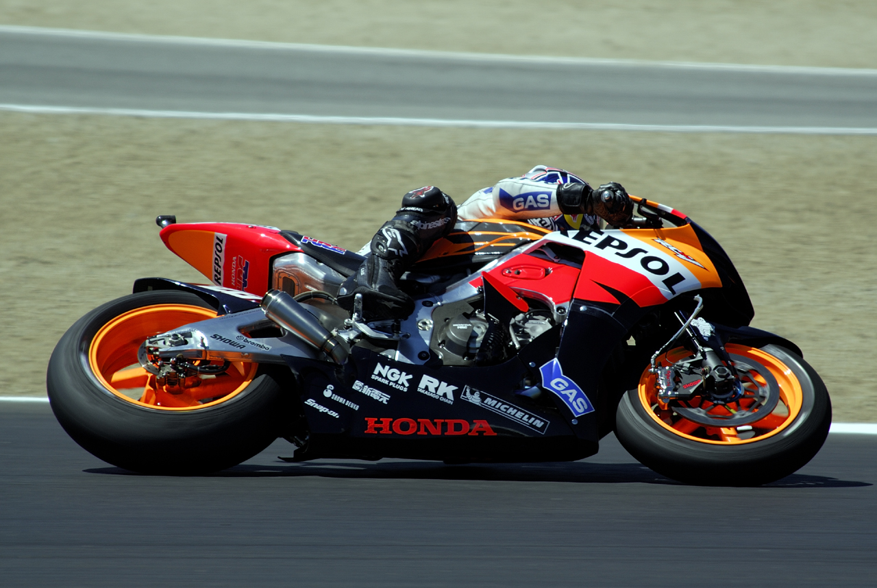 July 2007 - Laguna-Seca MotoGP 2006-2007Dani Pedrosa exiting Turn 2 at 200 mph!!