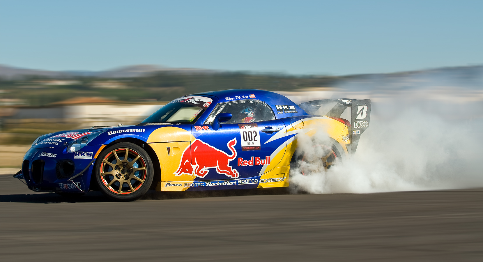 Red Bull Drift Car Driver Rhys MillenCamarillo, California© jason arnold / jasonarnoldphotography.com