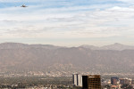 Space Shuttle Endeavour makes it's final mission with a flyover Los Angeles at 1400 ft (including Universal Studios, The Getty Center, The Hollywood sign, The Griffith Observatory, Malibu Beach, The Santa Monica Pier, Disneyland, and JPL) before touching down at Los Angeles International Airport.