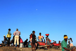 Thousands of Haitians cross the border to Dajabon from the Haitian town of Ouaniminthe to sell and buy goods on market days.
