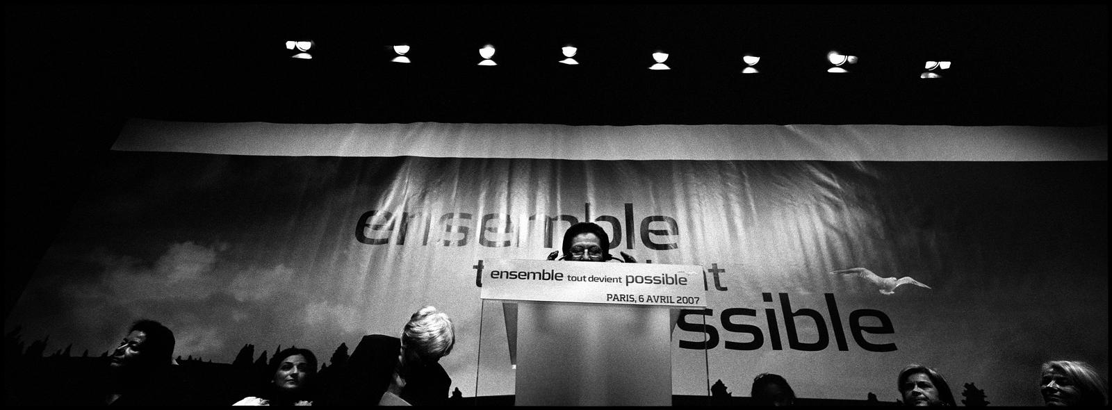 Discours de Simone Veil à la Mutualité de Paris le 6 avril 2007, lors d'un meeting de Nicolas Sarkozy sur le thème {quote}les Femmes et de l'égalité de chances{quote}
