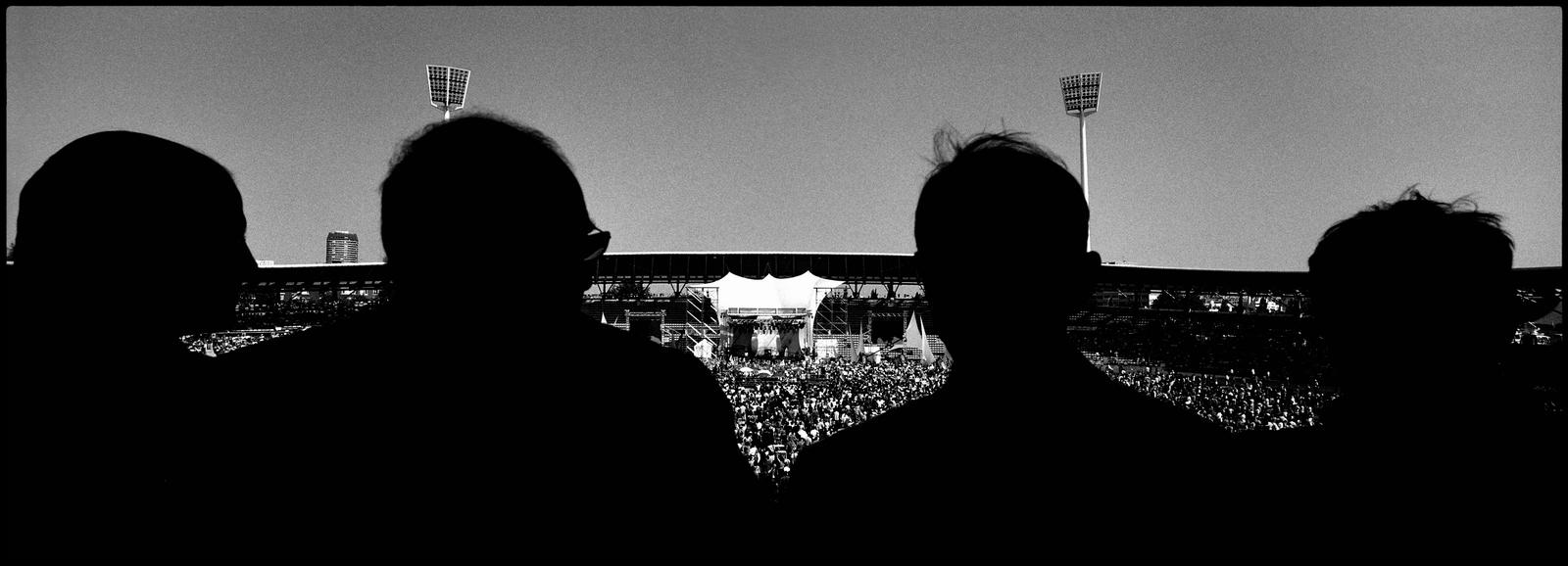 Environ 40000 personnes se sont réunies au stade Charlety à Paris le 1er mai 2007 pour le dernier grand meeting de Ségolène Royal à quelques jours du second tour de l'élection Présidentielle.