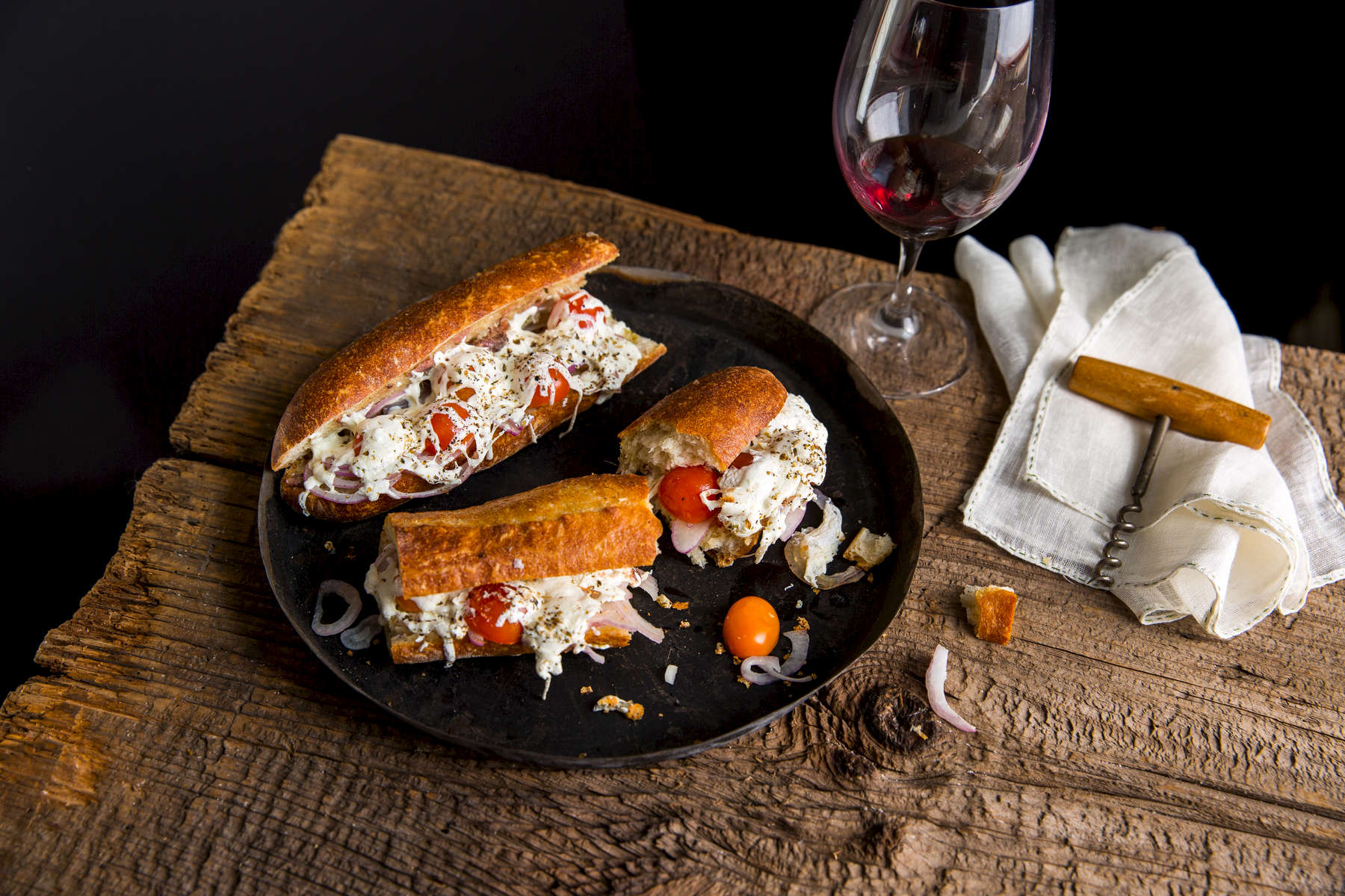 Recipes of the Day 61-65, Pissaladierre Baguette