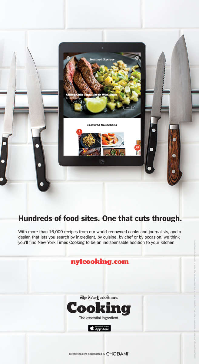NYT Cooking Advertisement