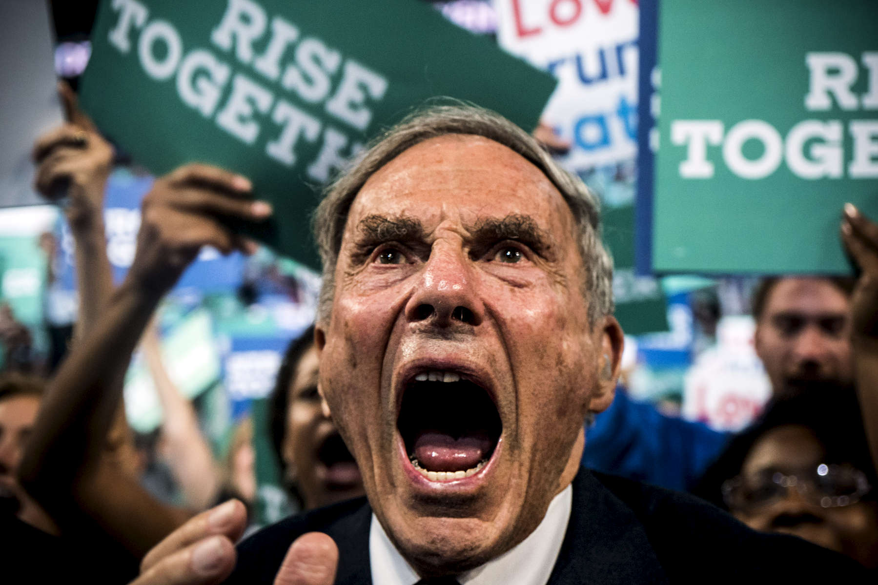 Philadelphia, PA - July 25, 2016: Scenes from the Democratic National Convention in Philadelphia, PA.