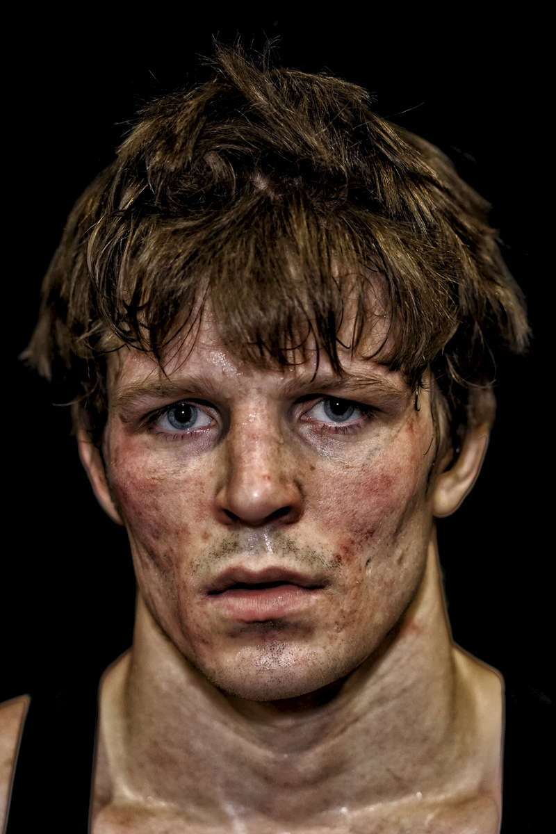 New York City, NY - March 18, 2016Portraits of wrestlers competing during the 2016 NCAA Division I wrestling tournament.(Photograph by Benjamin Lowy for The New Yorker)