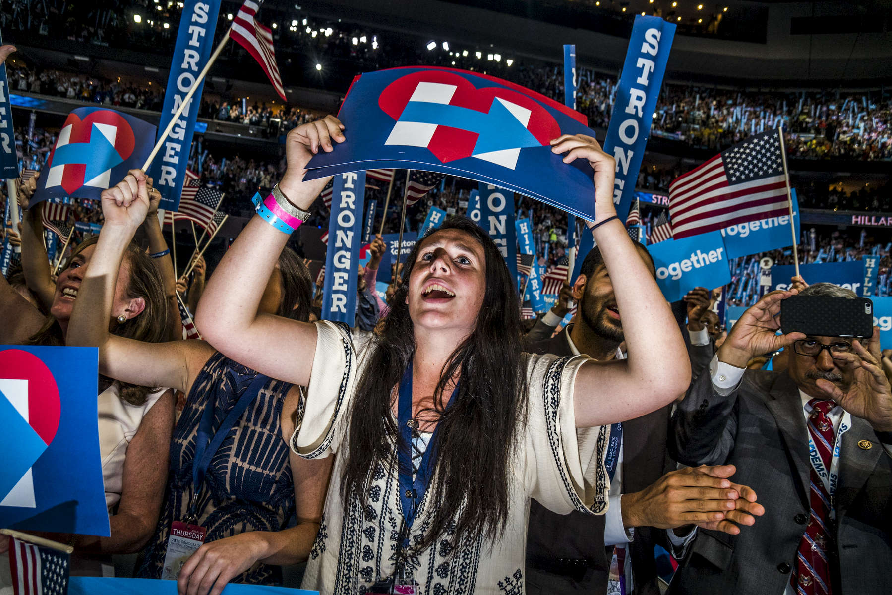 Philadelphia, PA - July 28, 2016: Scenes from the Democratic National Convention in Philadelphia, PA.