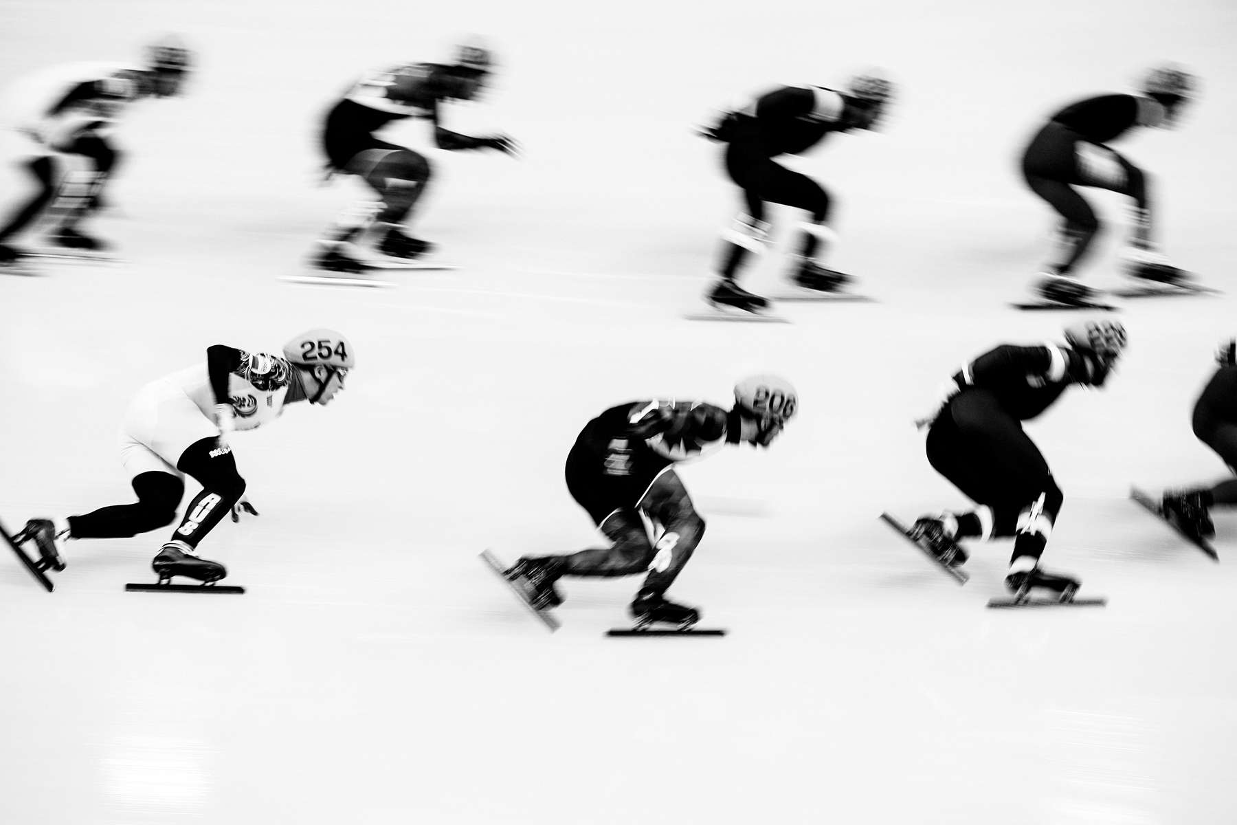 Men's Team Speed Skating, Training.