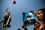 Iraqis in Sadr City protest in support of Anti- US cleric Muktada Sadr.