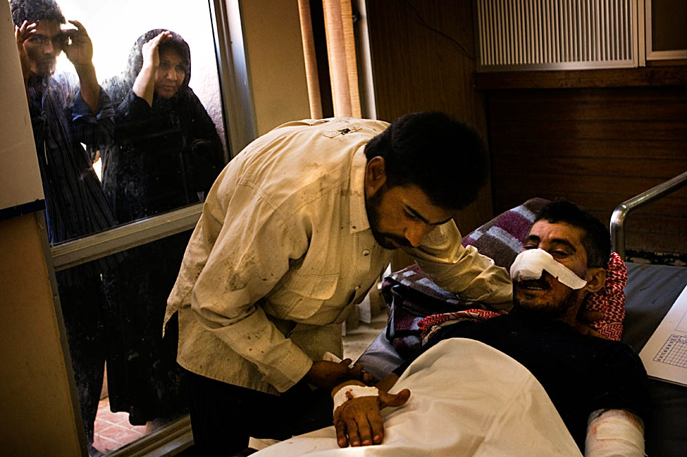 The victims of multiple suicide bombings in Iraq are treated at Baghdad's Kadhimiya hospital. Over 152 Iraqis were killed and 542 were injured in one of the bloodiest days in Iraq.