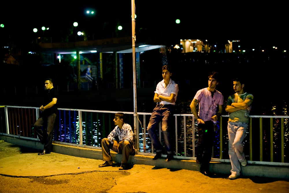 Young Kurdish men cruise for dates in liberal Sulaimaniya.