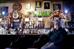 A former steel industry worker drinks in a bar a small bar on February 7, 2012 in Youngstown, OH.