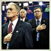 RNC delegates recite the Pledge of Allegiance on the final might of the 2012 Republican National Convention.