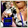 A Republican delegate at the RNC shows off her Obama countdown clock.