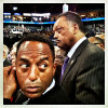 Jesse Jackson on the floor of the Democratic National Convention.