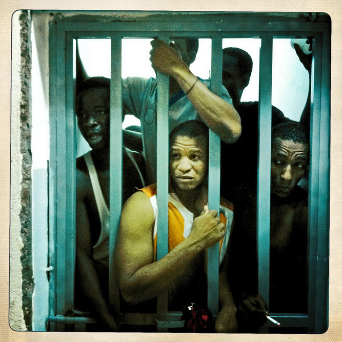 African migrant workers accused of being mercenaries for former Libyan Dictator Moammar Gaddafi are kept in a small low-security prison in Tripoli, Libya. While Gaddafi did use a number of paid African soldiers to battle the rebels, most Africans are simply arrested and harrassed in libya for simply being black.