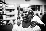 LAS VEGAS, NV - JULY 26: World Champion Boxer Floyd Mayweather Jr. Prepares to enter a six week training camp regime that will condition him for his upcoming fight with the younger Mexican fighter Saul {quote}Canelo{quote} Alvarez. (Photo by Benjamin Lowy/Reportage by Getty Images)