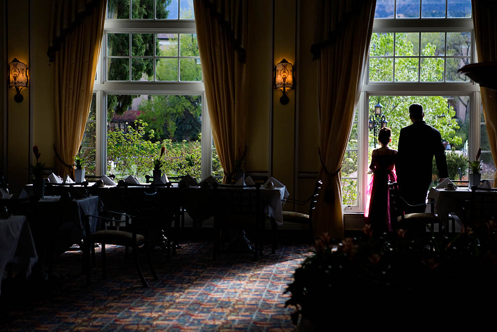 A father and daughter stand by the window inside the ballroom of the Broadmoor Hotel on May 16, 2008 in Colorado Springs, CO. The annual Father-Daughter Purity Ball, founded in 1998 by Randy and Lisa Wilson, focuses on the idea that a trustworthy and nurturing father will influence his daughter to lead a lifestyle of {quote}integrity and purity.{quote}