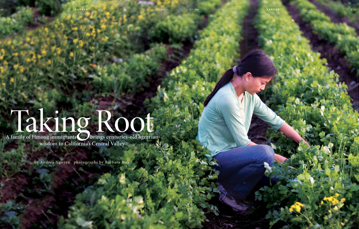 Hmong family farm for Saveur Magazine.