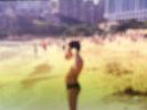 A boy at Repulse Bay beach during SARS, 2003. Kodak E100VS slide, 35mm2019Archival pigment print, 75x100cm