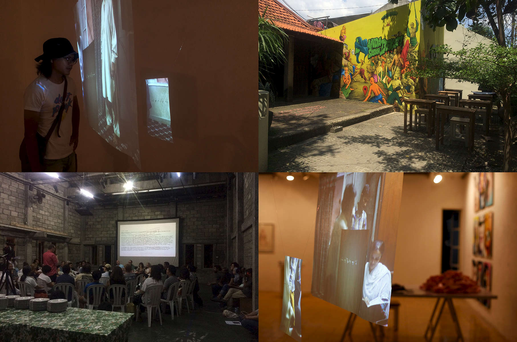Two works, a hanging projection installation I was a different type of man back then (2015-2016), and multi-channel sound piece IntegrationII (2014), are in Cemeti at the exhibition Concept, Context, Contestation, organised by the Bangkok Art and Culture Centre, and presented at Cemeti Art Space and Ruang Mes 56.