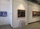 Installation view of lightboxes and prints in solo 'How did we get here' at Chan Hampe Galleries, April - May 2015.