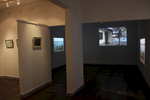 Installation View of synchronised 3-channel projection at Full Circle Gallery in Karachi, with Vasl Artists' Collective, November 2015.