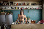 James a PR from San Paulo in his home in Favela Vidigal