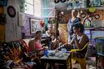 Elena (right) owner of Bar Brex Quebra Galho in Favela Vidigal