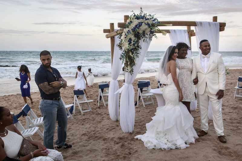 Uday and Alida are getting married on the beach in San Juan.