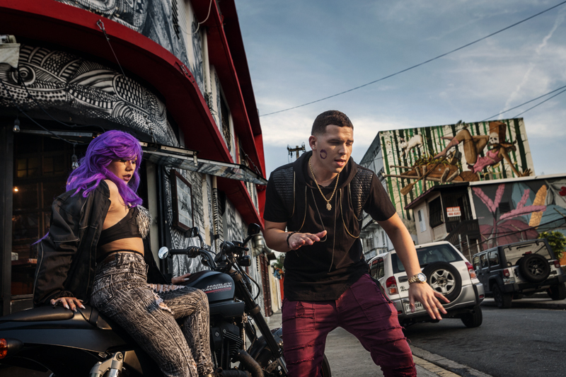 Puerto Rican singer Yoi Carrera is filming a music video in Santurce neighborhood.