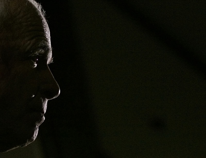 Republicn presidential candidate John McCain listens to a question during a campaing stop in Michigan.
