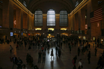 A woman is seen in silhouette walking through Grand Central Station in New York, September 25, 2014. Iraq has received {quote}credible{quote} intelligence that Islamic State militants plan to launch attacks on subway systems in Paris and the United States, Iraqi Prime Minister Haider al-Abadi said. Abadi said the information, which he received on Thursday morning, came from militants captured in Iraq. He said he had asked for further details and concluded it appeared credible. Two senior U.S. security officials, contacted by Reuters following the comments from Abadi, said the United States had no information to support the threat. REUTERS/Shannon Stapleton (UNITED STATES)