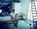 arthur nobre ©At his Studio - Williansburg - BrooklynMedium : Polaroid 809Camera : Cambo Legend 8x10