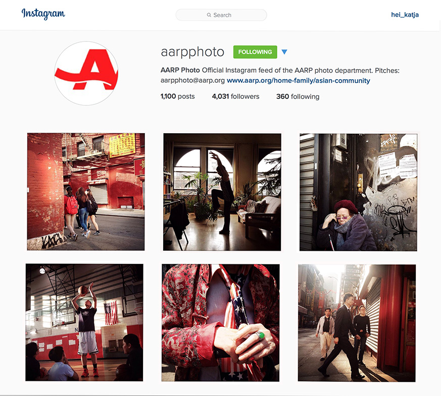 Chinatown Baby Boomers, an original series of portraits for AARP Photo's Instagram feed, 2015.
