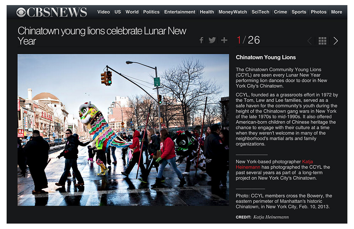 Chinatown Community Young Lions celebrate the Chinese New Year, 2015.