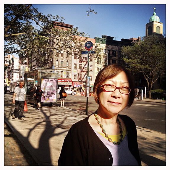 """My family had a restaurant on Mott Street, and it was a Steak and Chops House, not a Chinese restaurant. I was so young, I didn't really appreciate what we had at that time. On Sundays we'd meet up with other Chinese families from the same village. And so the kids would play and the mothers would yack away and the dads would go off on their own."" Today's Chinatown feels less like a village: ""It's grown so much, and the language has changed. The things that are lost are still in my memory. It's nostalgia, I think, as I've gotten to a certain age, but maybe that's me, too. I've always had a tendency to really enjoy the idea of looking back."" Fay Chew Matsuda (66) worked with the Chinatown History Project, later the Museum of the Chinese in America, and now serves the neighborhood's senior population as program director at Hamilton-Madison House. ""My husband and I, we're actively talking about retirement, and so I take note of what successful aging might look like. Social engagement in any form is really the best way to keep yourself from aging in a negative way. It's amazing to me: those who come out every day – they look good! They're active. They're not complaining about this illness or that illness, they are thinking about other things. You know, life goes on. I'm looking forward to actually not having to do the nine-to-five grind. As much as I enjoy my job."""