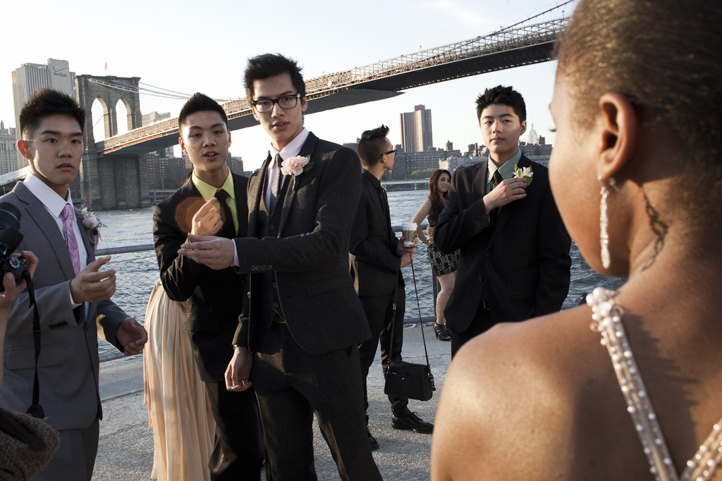 Beyond Chinatown: LaGuardia High School for the Arts seniors pose for prom pictures.