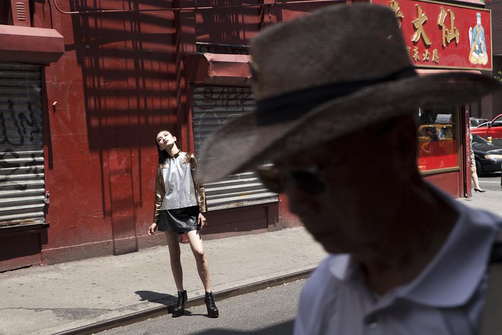 Fashion shoot on Pell Street.