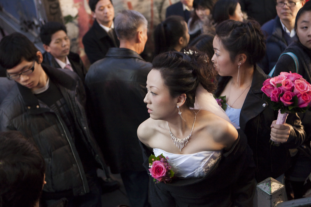 Thanksgiving is wedding day in Chinatown.