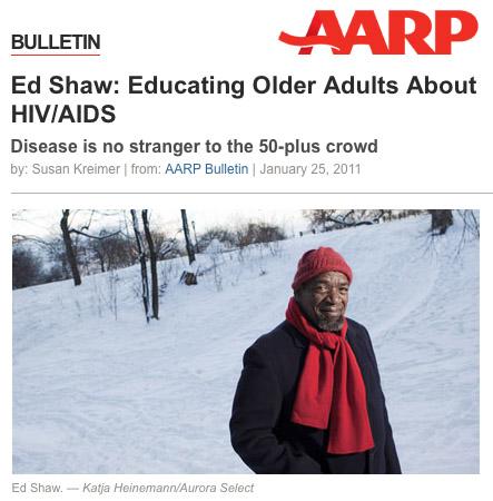 HIV/AIDS activist Ed Shaw, 2011.