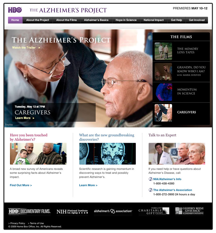 Alzheimer's Project series of documentaries, 2009.