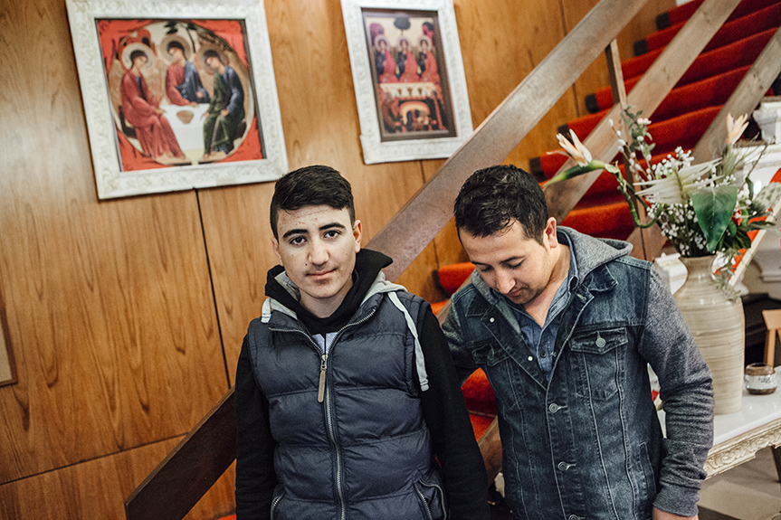 "Fifteen-year-old Younis arrived in Berlin in April with his older cousin, Adel, 27, whom he calls uncle. Their family was displaced by the August, 2014 Islamic State massacre of the Kurdish Yazidi ethnic and religious minority in the Sinjar area of Northern Iraq; their relatives are living in UNHCR refugee camps. Adel: ""Younis has two sisters and two brothers. His father is very poor, he has nothing, so he asked me, 'Can you take the boy with you? And maybe he'll be able to bring us to Germany one day.' Our family lives in Iraq, there are thousands of children like him, who have no food, no water, no clothes, and now it's beginning to get cold there.""Even Berlin does not feel altogether safe: ""We made it all this way, and they are still following us."" Stories of threats and persecution of Yazidis by Arab Muslims in Germany's refugees shelters are circulating. The pair found refuge in a hotel that is Yazidi-owned and doesn't allow Arabs or Muslims – except people from Pakistan, since there are no issues between their communities."