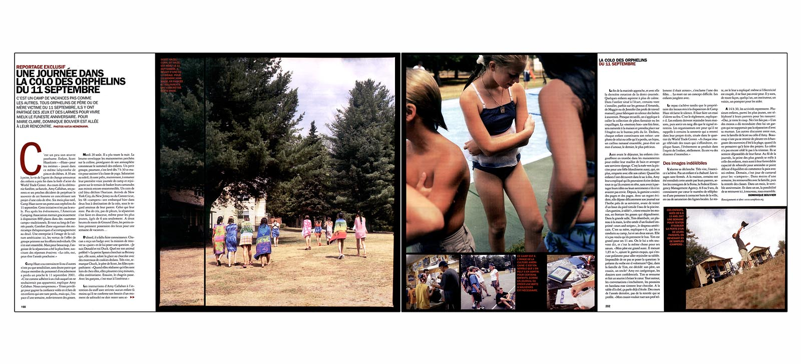 Summer camp for 9/11 orphans and impacted families, 2002.