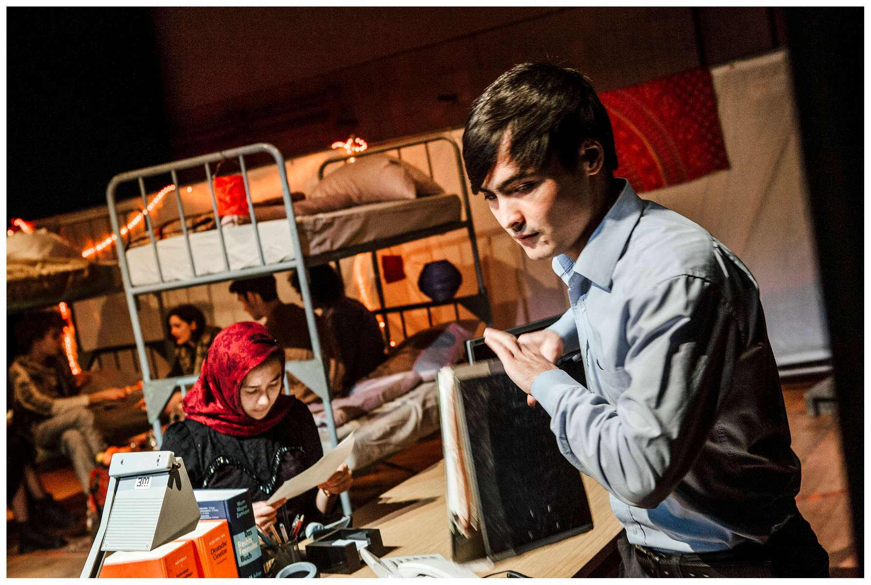Weltenwander Theater und Newsgroup Afghanistan:Documentary theater, November 2017