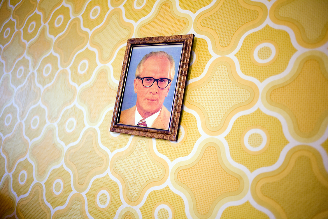 Erich Honecker and wall paper
